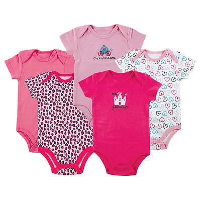Luvable Friends 5-Pack Bodysuits Girls Princess