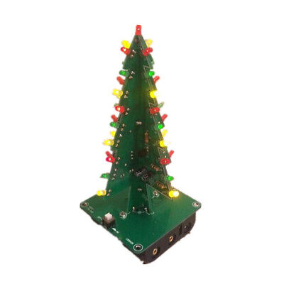 Gift Christmas Tree 3D Tree LED DIY Kit Electronic LED Flash Circuit Parts ()