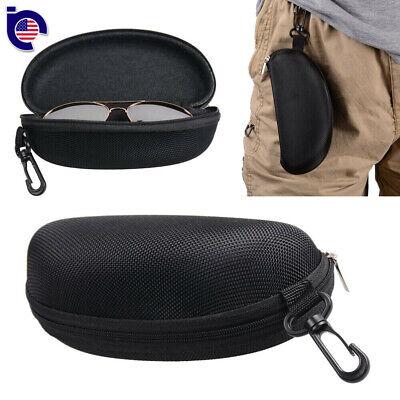 Zipper Hard Eye Glass Case Box Sunglass Protector Travel Fashion with Belt (Sunglasses Zipper Box)