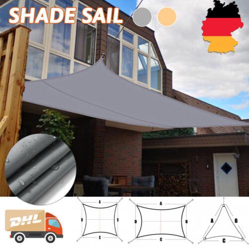 Sonnensegel WASSERDICHT Sonnenschutz Windschutz UV-Schutz Dreieck Rechteck DHL