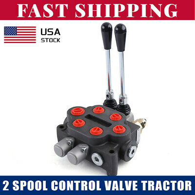 Hydraulic Directional Control Valve Tractor Loader W Joystick 2 Spool 25 Gpm
