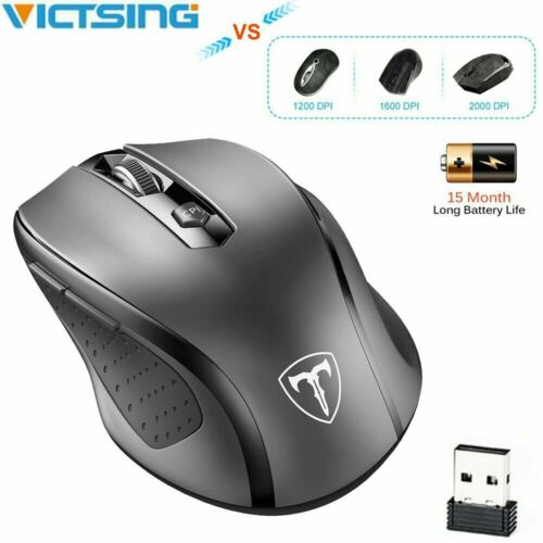 VicTsing USB 2.4 GHz Cordless Wireless Optical Mouse Mice for Computer Laptop US