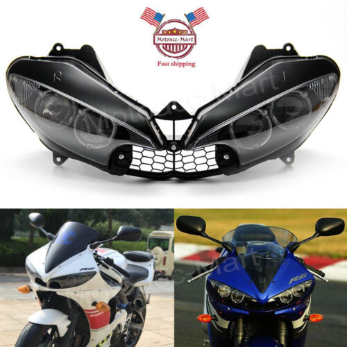 R6 Headlight Front Light Lamp Assembly Clear For Yamaha Yzf R6 2003 2005 04 R6s Ebay