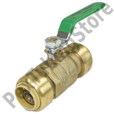 10 34 Sharkbite Style Push-fit Push To Connect Lead-free Brass Ball Valves