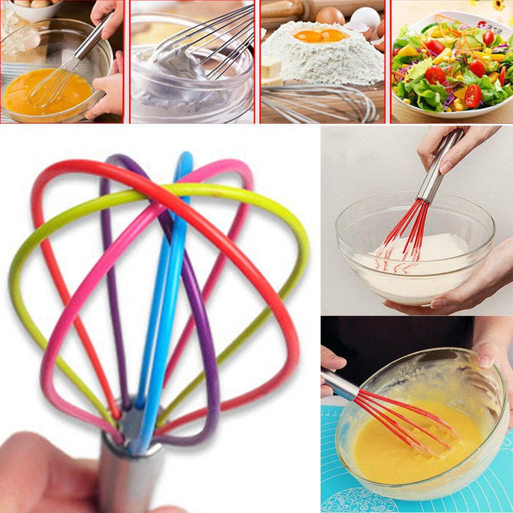 Multicolor Silicone Egg Heat Resistant Beater Kitchen Utensils Tool Batidor 1