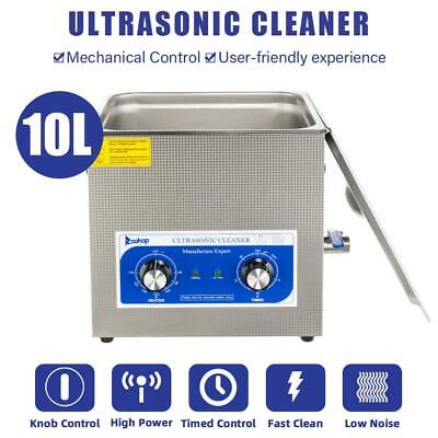 10l Digital Heated Industrial Stainless Steel Ultrasonic Parts Cleaner 2019 New