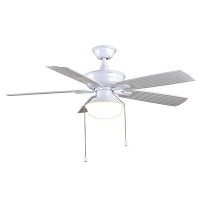 - Marshlands 52 in. LED Indoor/Outdoor White Ceiling Fan with Light Kit Parts