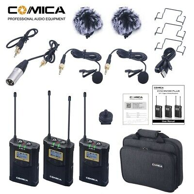 COMICA CVM-WM100 Plus 48-Channel UHF Wireless Microphone for