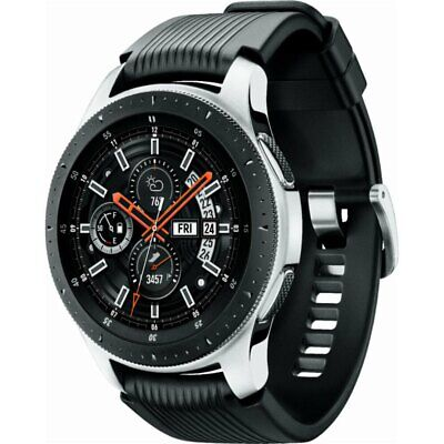 Samsung Galaxy Watch - 46mm Black & Silver Bluetooth Fitness GPS WiFi Excellent