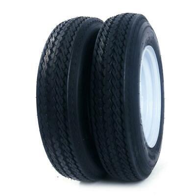 2pcs  Trailer Tires & Rims 5.30-12 530-12 5 Hole Wheel White Spoke P811