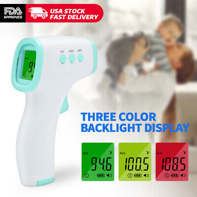 Infrared Thermometer Digital Led Forehead No-touch Body Adult Temperature Us