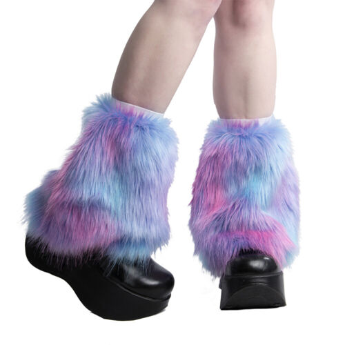 PAWSTAR Ankle Furry Leg Warmers - Fluffies Pastel Galaxy Boot Cover [GRAIN]2593