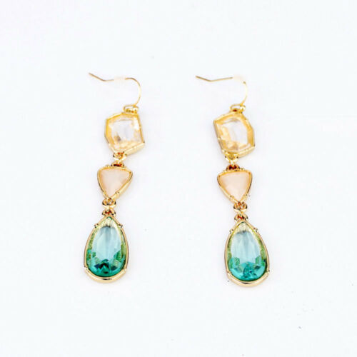 Classic Inlay Diamond Eardrop 1 Pair Green Color Drop Jewelr