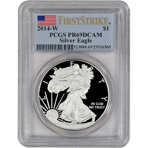 2014-W-American-Silver-Eagle-Proof-PCGS-PR69-DCAM-First-Strike