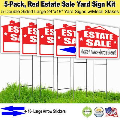 5 Pack -estate Sale Lawn Sign Kit