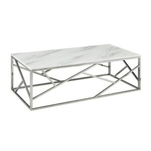 WHITE END TABLE WITH MATCHING COFFEE TABLE (BD-239)