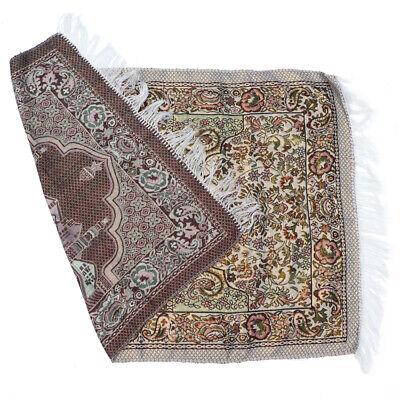 1 pc Muslim Prayer Rug Cotton Tassel Trims Prayer Mat for Hall Bedroom