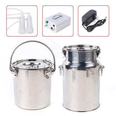 110v 5l Electric Sheep Goat Milking Machine Kit Wstainless Steel Milker Bucket