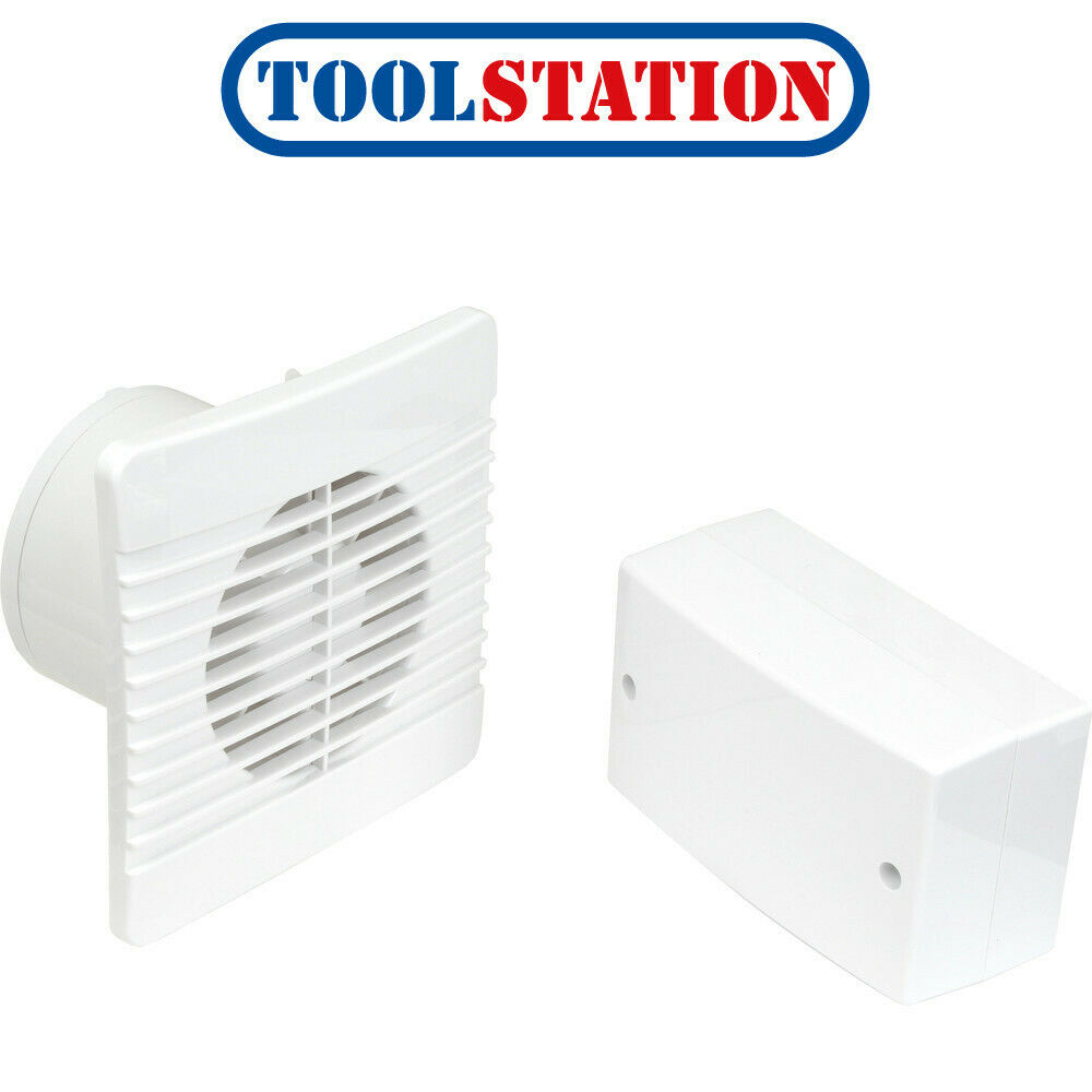 Airvent 100mm Selv 12v Low Profile Extractor Fan Humidistat Pullcord 5015135044763 Ebay