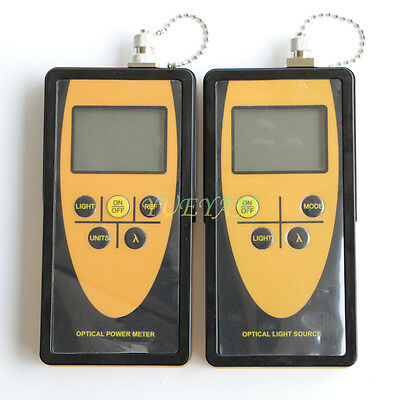 Fiber Optic Tester Tool Optical Power Meter Optical Light Source 13101550 Sm