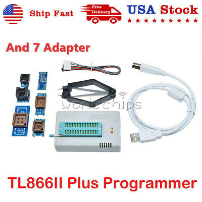 Usb Tl866ii Plus Programmer Flash Adapters Eprom Bios Avr Mcu Pic With 7 Adapter