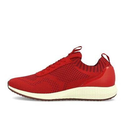 Scarlet Damen Schuhe (Tamaris Tavia Scarlet Schuhe Sneaker Rot Weiß)
