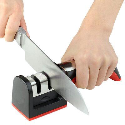 Hard Carbide Ceramic Sharpening Stone 2 Stages Handle Household Knife Sharpener