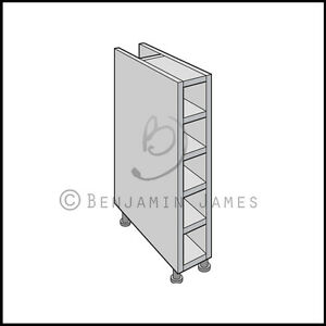 Kitchen carcass unit base wine rack cabinet 18mm back for Black kitchen carcasses