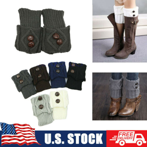 Women Boot Knitted Socks Crochet Trim Leg Warmers Winter Cuffs Cover Leggings Clothing, Shoes & Accessories