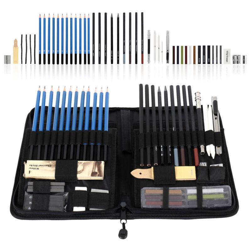 48pcs pro sketching drawing art pencil kit
