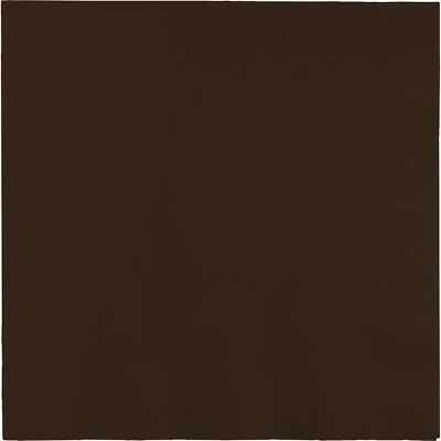- 100 Chocolate Brown lunch/dinner napkins, wedding/party Large Size Square