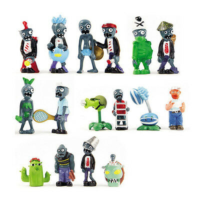 16 X Plants Vs Zombies Toys Series Game Role Figure Display Toy Pvc Doll Gift