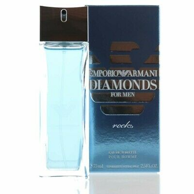 Emporio Armani Diamonds Rocks by Giorgio Armani EDT 2.5 oz 75 ML Men Sealed