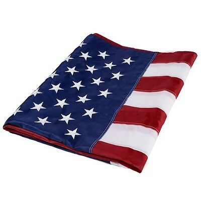 5'x8' ft American Flag Sewn Stripes Embroidered Stars Brass Grommets USA US U.S.