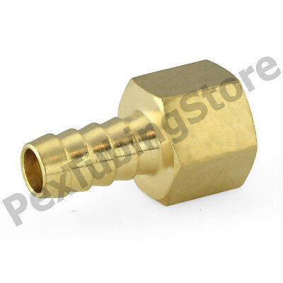 14 Hose Barb X 14 Female Npt Brass Adapter Threaded Fitting Fuelwaterair