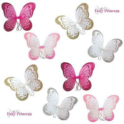 Schmetterling Fairy Glitter Wings Verkleidung Zubehör Kostüm - Fairy Glitter Kostüm