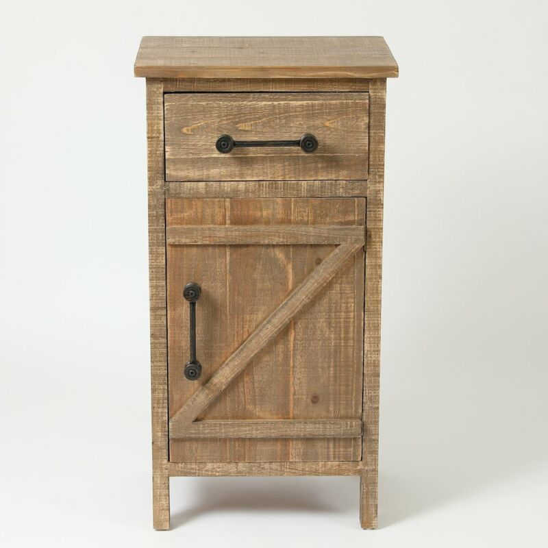 Rustic Wood Small Console Cabinet