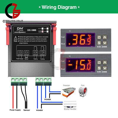Stc-1000 Ac110-220v Digital Temperature Controller Thermostat Ntc Probe Sensor