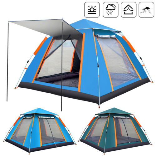 4-6 Person Instant Up Camping Tent UV Protection Waterproof Family Hiking Canopy