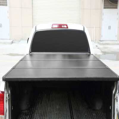Hard Truck Bed Tonneau Covers - Lock Hard Solid Tri-Fold Tonneau Cover For Ford F-150 2004-2018 5.5ft Truck Bed