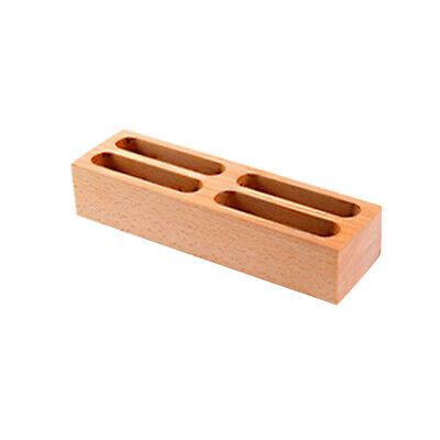 1pc Card Holder Wooden Creative Business Card Box Desktop Box For Company Office