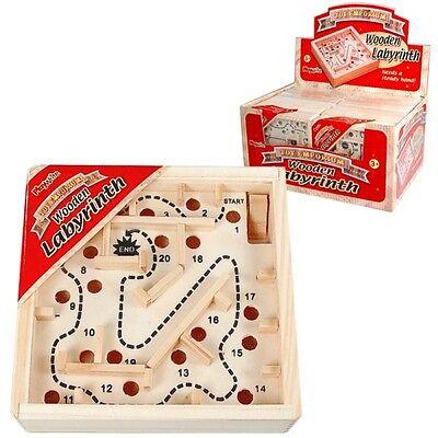 Wholesale Job Lot 24 Wooden Labyrinth Maze Puzzles *Boys *Girls *Kids