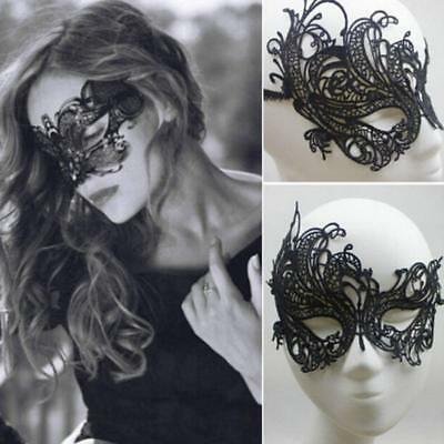 Halloween Masquerade Mask (Womens Lace Face Eye Mask Masquerade Ball Halloween Party Fancy Dress Costume)