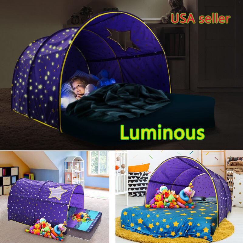 Printing Kids Dream Bed Tents Fantasy Stars Playhouse Comforting Sleeping Tents