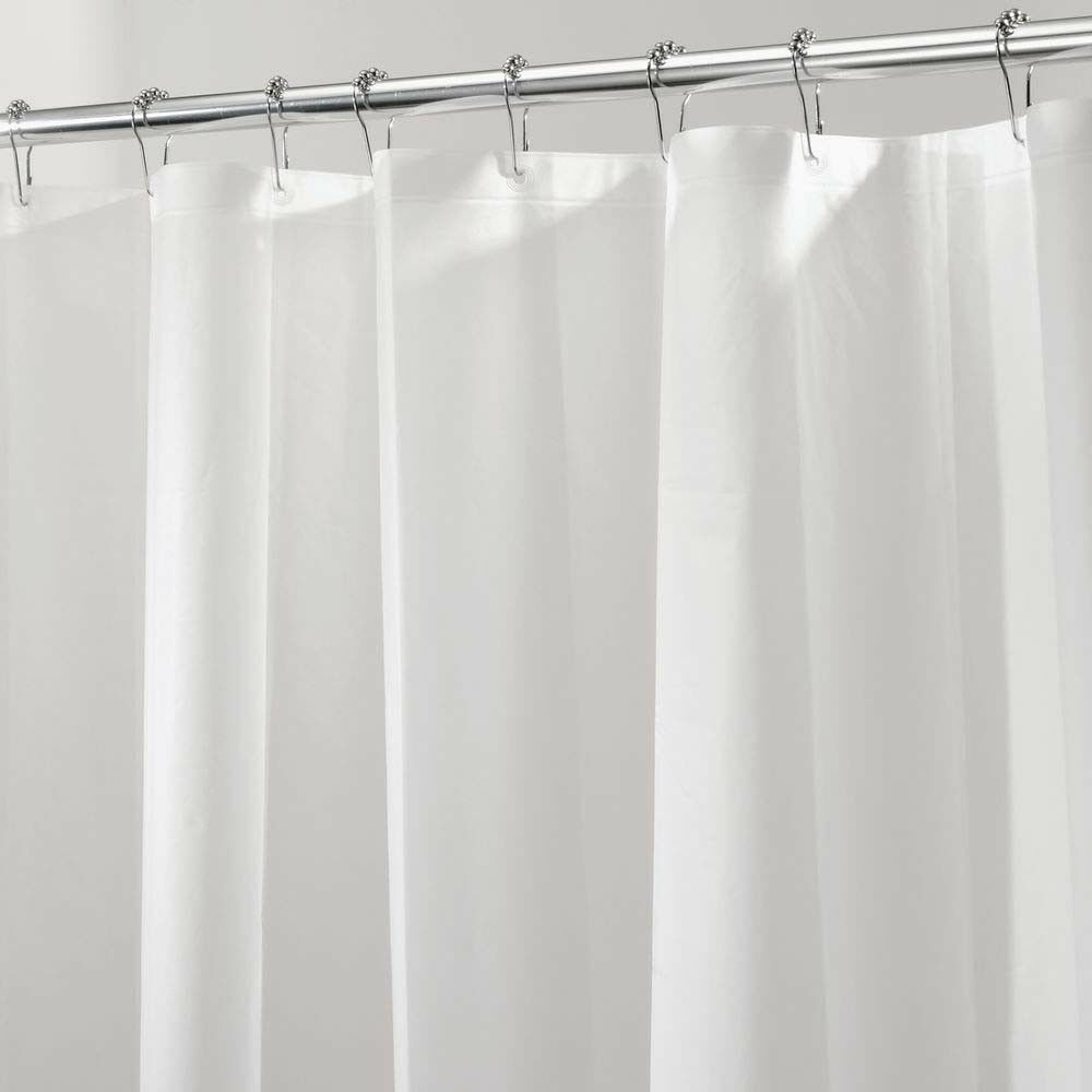 "Interdesign 12252 PEVA Shower Liner Mildew Free 72/"" X 84/"" Clear"