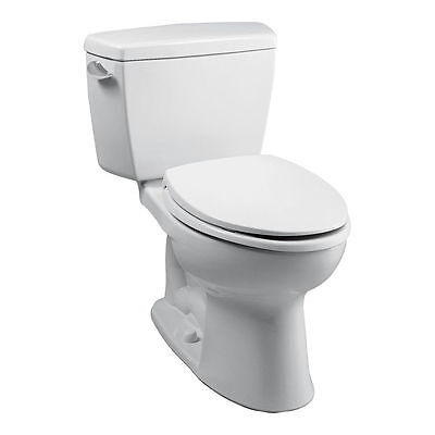 - Toto CST744S#01 Cotton White Two Piece Drake Toilet with Elongated Bowl and Tank