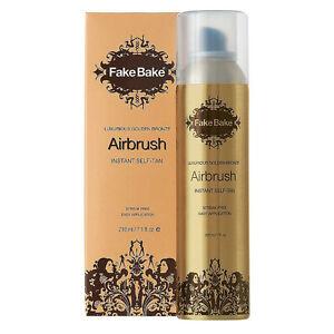 New Fake Bake Airbrush Luxurious Golden Bronze Streak Free Instant Self Tan 7.1