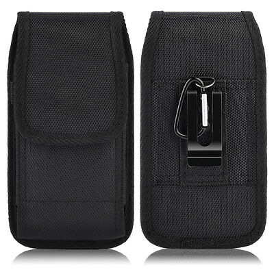 Carrying Vertical Pouch - Luxmo Vertical Nylon Carrying Pouch Case Holster with Belt Clip For Cell Phone