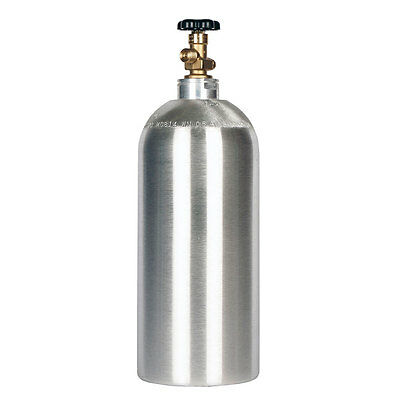 10 Lb. Co2 Cylinder New Aluminum Fresh Hydro-test - Cga320 Valve - Free Shipping