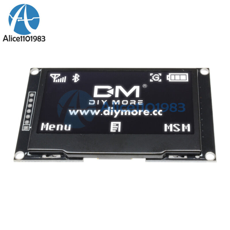 """2.42"""" inch White OLED Display SSD1309 128x64 SPI Serial Port Module For Arduino"""